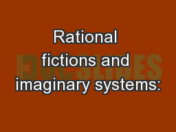 Rational fictions and imaginary systems: