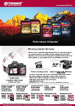 Memory Cards I SD CardsWhether amateur or professional, photographers