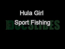 Hula Girl Sport Fishing