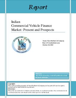 Indian Commercial Vehicle Finance Market Present and Prospects Team Vinod Kothari  Company finservvinodkothari