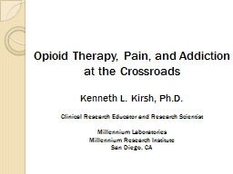 Opioid Therapy, Pain, and Addiction at the Crossroads