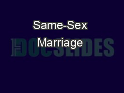 Same-Sex Marriage & Conflict of Laws