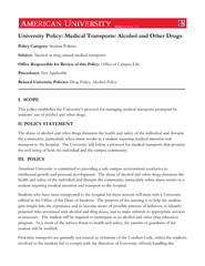 Medical Transports: Alcohol and Other Drugs