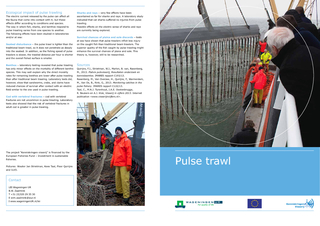 Ecological impact of pulse trawlingThe electric current released by th
