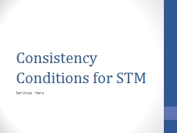 Consistency Conditions for STM PowerPoint PPT Presentation