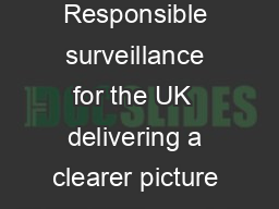 The CCTV Manifesto Responsible surveillance for the UK  delivering a clearer picture  SUPPORT     avigilon