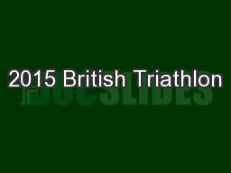 2015 British Triathlon
