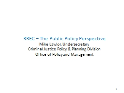 RREC – The Public Policy Perspective