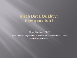 Birth Data Quality: