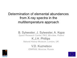 Determination of elemental abundances from X-ray spectra in