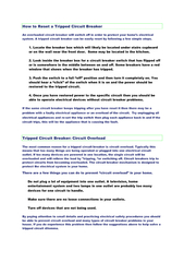 How to Reset a Tripped Circuit Breaker PowerPoint PPT Presentation