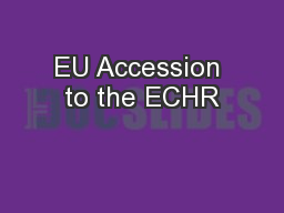 EU Accession to the ECHR