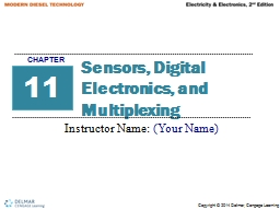 Sensors, Digital Electronics, and Multiplexing