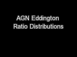 AGN Eddington Ratio Distributions