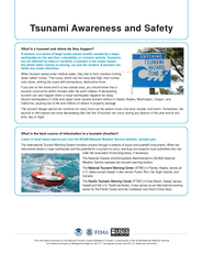 Tsunami Awareness and SafetyThis information provided by the National