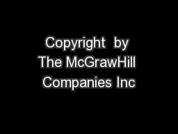 Copyright  by The McGrawHill Companies Inc PDF document - DocSlides