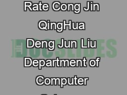 Computer Virus Propagation Model Based on Variable Propagation Rate Cong Jin QingHua Deng Jun Liu Department of Computer Science Central China Normal University Wuhan  China Email jincongmail PDF document - DocSlides