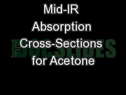 Mid-IR Absorption Cross-Sections for Acetone