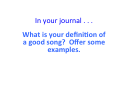 In your journal . . .