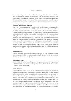 CHEMICAL FACT SHEETS  for carcinogenicity via the oral route