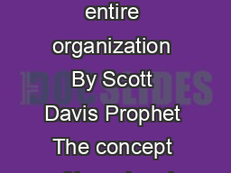 CORPORATE BRANDING Making the brand the strategic driver for the entire organization By Scott Davis Prophet The concept of brand and the practice of branding have become two of the most bandied  and