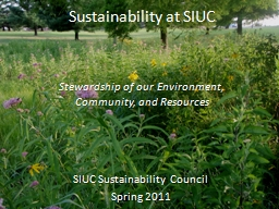 Sustainability at SIUC