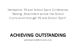 Hampshire PE and School Sport Conference