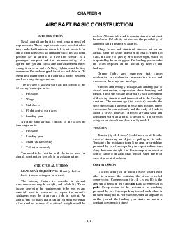 CHAPTER  AIRCRAFT BASIC CONSTRUCTION INTRODUCTION Naval aircraft are built to me PDF document - DocSlides
