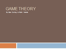 Game Theory PowerPoint Presentation, PPT - DocSlides