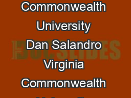 A Study of the NonProfit Credit Counseling Industry Cory Bunting Virginia Commonwealth University Dan Salandro Virginia Commonwealth University ABSTRACT This study adds to the emerging body of resear PDF document - DocSlides