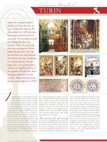 Inside the Corpus DominiBasilica in Turin, there is aniron railing tha