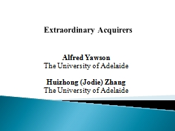 Extraordinary Acquirers
