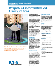 Design/build, modernization and turnkey solutionsEaton's moderniz