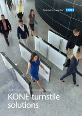 KONE turnstile solutionsSMOOTH PEOPLE FLOW AND SECURE ACCESS CONTROL .