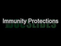 Immunity Protections