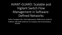 AVANT-GUARD: Scalable and Vigilant Switch Flow