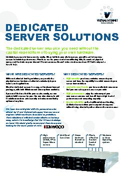 WHY DEDICATED SERVERS high security you have exclusive access to your server and have the capability to restrict access to your server from outsiders control in your hands you have rootadmin access s