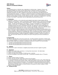 USA Ultimate Rules for Intramural Ultimate