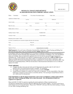 HONOLULU POLICE DEPARTMENT ALARM REGISTRATION PERMIT APPLICATION HOHFW HVLGHQWL