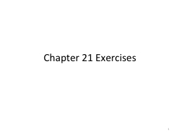 Chapter 21 Exercises