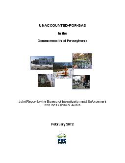 Commonwealth of Pennsylvania Investigation and Enforcement  and the Bu