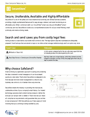 Page  4/4SecureStoreInbound/Outbound archiving . Plus the addition of