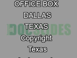 TIL TIL NUMERIC DISPLAYS WITH LOGIC SLBSD MARCH REVISED SEPTEMBER  POST OFFICE BOX  DALLAS TEXAS  Copyright  Texas Instruments Incorporated SOLIDSTATE DISPLAYS WITH INTEGRAL TTL MSI CIRCUIT CHIP FOR PDF document - DocSlides