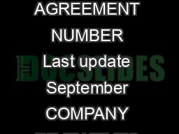 US GOVERNMENT RENTAL CAR PROGRAM PARTICIPANTS  NTS OF CONTACT INFORMATION AGREEMENT NUMBER Last update September COMPANY RE EN TIVES TELEPHONE NUMBERS RES RVATIONS AC Ace Rent Car Mr PDF document - DocSlides