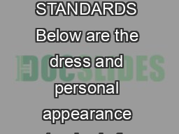 July  DRESS AND APPEARANCE STANDARDS Below are the dress and personal appearance standards for all students at Saint Ignatius