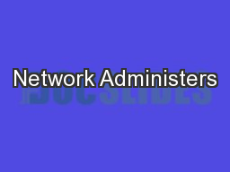 Network Administers