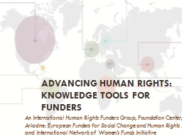 Advancing human rights: Knowledge Tools for Funders