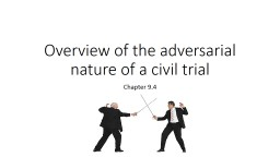 Overview of the adversarial nature of a civil trial