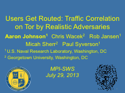 Users Get Routed: Traffic Correlation on Tor by Realistic A