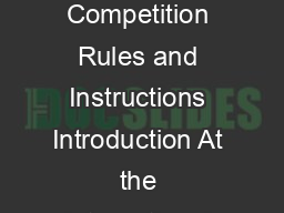 REVISED January   Page  of  ITE Collegiate Traffic Bowl Program  Competition Rules and Instructions Introduction At the International Annual Meeting of the Institute of Transportation Engineers ITE a